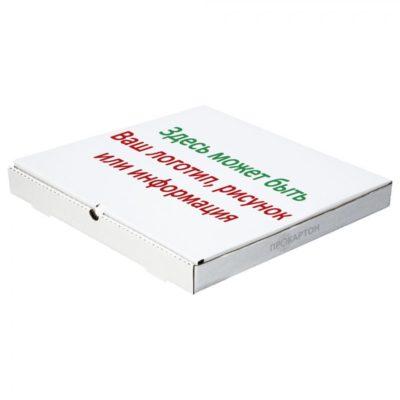 Коробка для пиццы с печатью в два цвета
