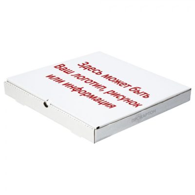 Коробка для пиццы с печатью в один цвет