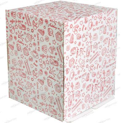 Коробка для торта 290х290х350 с рисунком