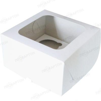 Коробка для 4 капкейков с вкладышем