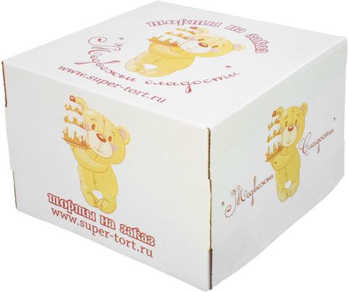 Пример печати на коробке для торта